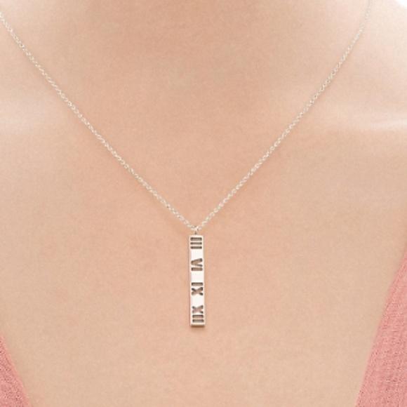 aca8578ea Tiffany & Co. Jewelry | Tiffany Co Atlas Bar Pendant Necklace | Poshmark